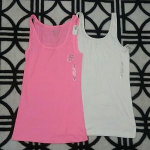 NWT Old Navy 1 Pink Tank & 1 White Camisole